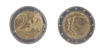 Euro coin, 2 euro Stock Photos