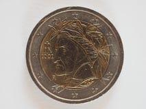 2 euro coin, European Union stock photo