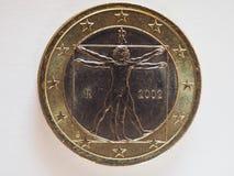1 euro coin, European Union royalty free stock image