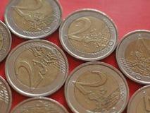 2 euro coin, European Union royalty free stock image