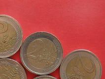 2 euro coin, European Union royalty free stock photo