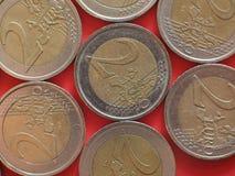 2 euro coin, European Union stock photos
