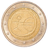 2 euro coin - Germany. Isolated on white background royalty free stock photo