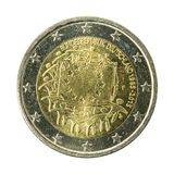2 euro coin germany isolated on white background. Specimen stock images