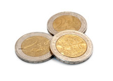 Euro coin isolated Royalty Free Stock Photos