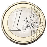 Euro Coin Isolated Front Stock Photography