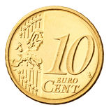 Euro coin isolated on white Royalty Free Stock Photo