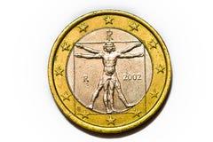 Euro coin isolated on white Stock Photos
