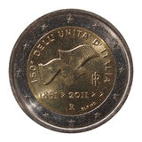 2 Euro coin from Italy Stock Photo