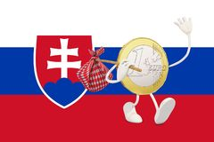 Euro coin leaving Slovakia Royalty Free Stock Photo
