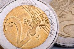 Euro coin macro Royalty Free Stock Photos