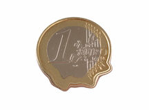 Euro Coin Melting Royalty Free Stock Photos