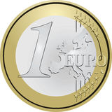 Euro coin. One euro coin metal Stock Image