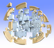 Euro coin puzzle Stock Photography