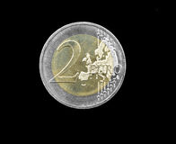 2 euro coin Royalty Free Stock Photos