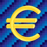 Euro coin sign. Layered illustration for easy editing Royalty Free Stock Image