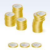 Euro Coin Stack Vector Icons Royalty Free Stock Photography