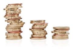 Euro coin staple Royalty Free Stock Photo