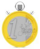 The euro coin stopwatch Royalty Free Stock Photos