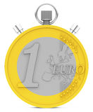 The euro coin stopwatch Stock Images