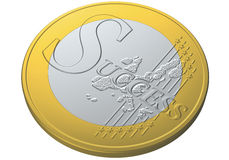 Euro coin success Stock Images
