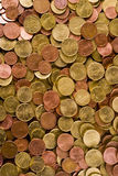 Euro Coin Texture. A background texture with coins Stock Images