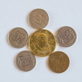 Euro coin from Vatican Stock Image