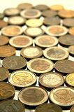 Euro coins. Lots of shiny euro coins Royalty Free Stock Photography