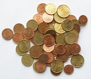 Euro coins. Background of Euro coins money (European currency Stock Image