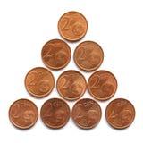 Euro coins stock photos