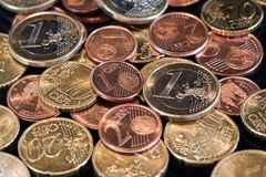 Euro coins. Euro currency: Several euro coins Stock Image