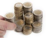 Euro coins. European money against white background stock photography