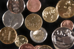 Euro-coins Royalty Free Stock Images
