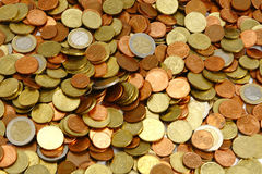 Euro coins. Background european currency Royalty Free Stock Photo