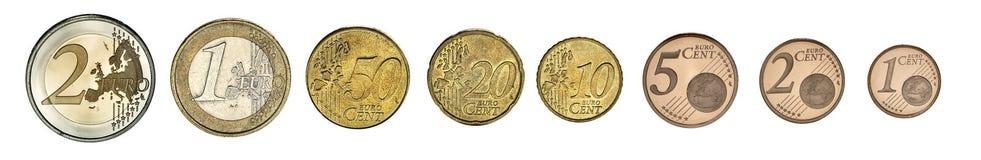 Euro Coins. Photo of euro coins set photo Royalty Free Stock Photos