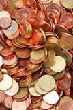 Euro Coins. Close up of euro coins Stock Images