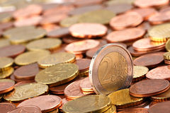 EURO coins 2 Royalty Free Stock Photography