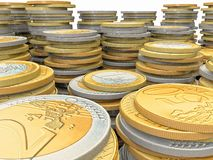 Euro coins Stock Photos
