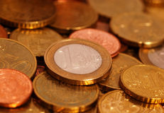 Free Euro Coins Royalty Free Stock Photo - 214555