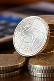 Euro coins Stock Photography
