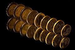 Euro Coins. Royalty Free Stock Photos