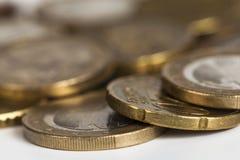 Euro coins. Studio shot of euro coins Stock Photos