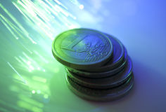 Euro coins Stock Image