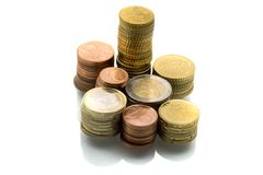 Euro Coins. Stack. Finance Series Royalty Free Stock Image