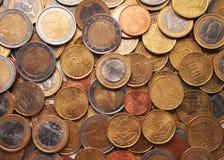 Euro coins. Background stock photos