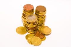 Euro coins stock image