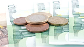 Euro Coins And Euro Cash. Royalty Free Stock Image