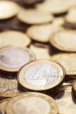 Many Euro coins Royalty Free Stock Photography