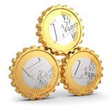 Euro coins as gear. Financial concept. Royalty Free Stock Photos