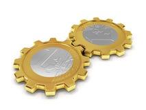 Euro coins as gear. Royalty Free Stock Photo